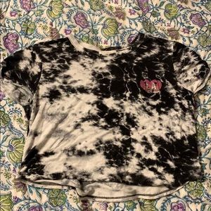 Acid wash crop top